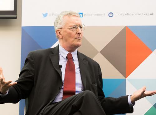 Rt Hon Hilary Benn MP speaking at a Policy Connect event