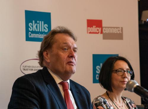 Image of John Hayes MP speaking at event