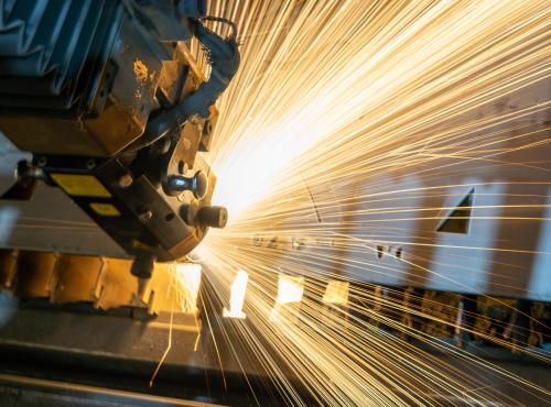 Abstract image of manufacturing