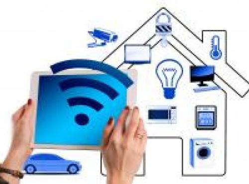 abstract image of smart home