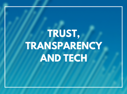 Trust, Transparency, Tech: The Public Sector 'License to Operate'