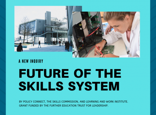 Creating a vision for FE and skills in England: How can we build a skills system that responds to local needs and future challenges?