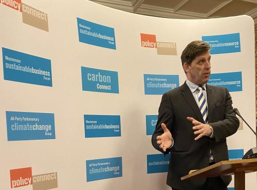 MPs set out sustainability priorities for the new Parliament at Policy Connect reception
