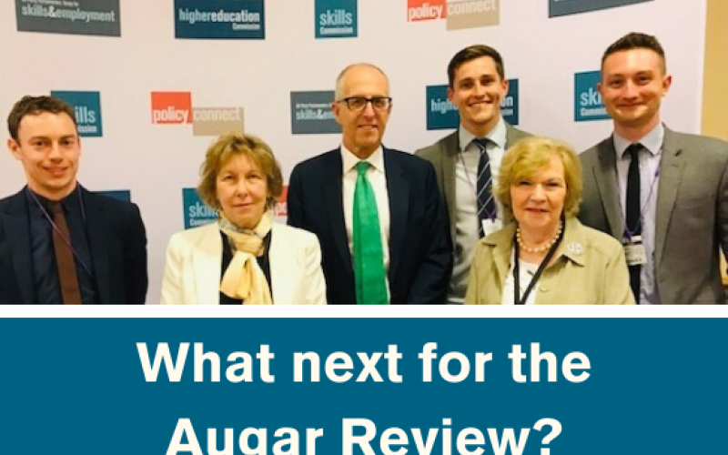 What next for the Augar Review? Baroness Sue Garden with Philip Augar, Baroness Alison Wolf and members of Policy Connect's Education and Skills team