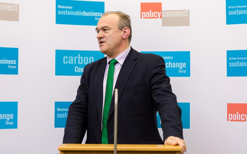 Sir Ed Davey MP speaks at our net zero Britain conference
