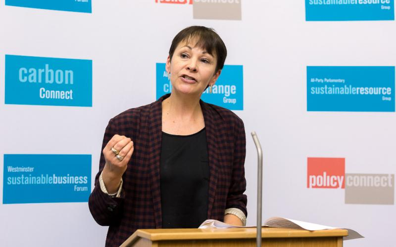 Caroline Lucas MP speaks at our net zero Britain conference