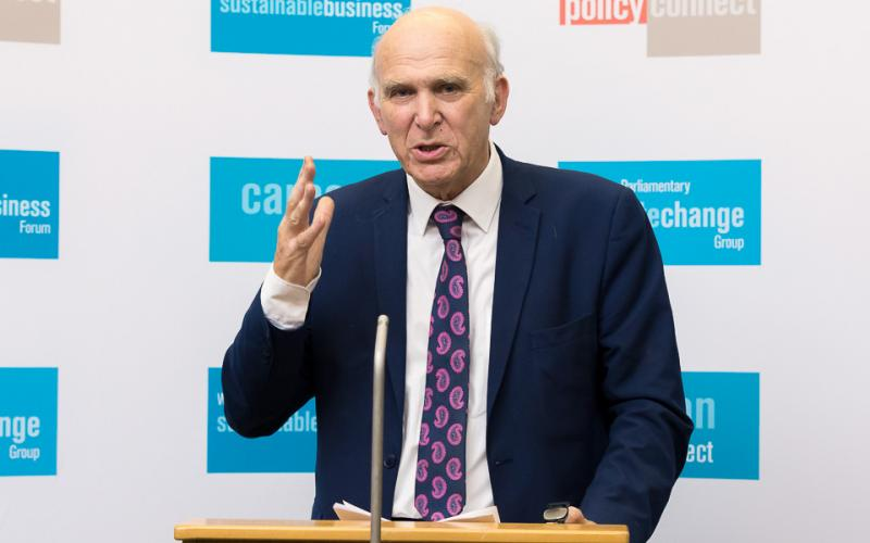 Sir Vince Cable MP speaks at our net zero Britain conference
