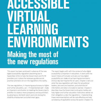 Accessible virtual learning environments - making the most of the new regulations