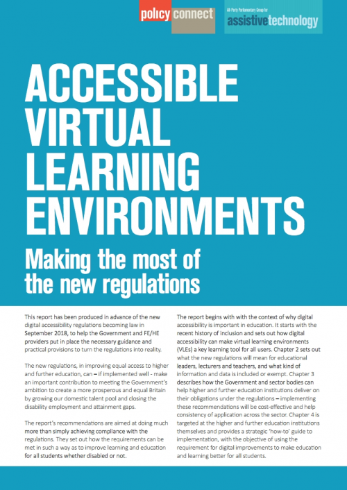 APPG Assistive Technology - Virtual learning environments report